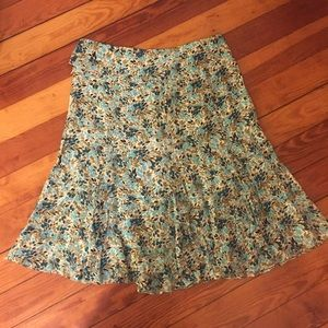 ODILLE size 8 100% silk skirt